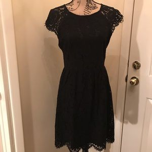 Black lace size 10 dress